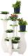 Стойка для цветов Славянская столица ДУ-СМ33 (белый/зеленый) -