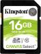 Карта памяти Kingston Canvas Select 80R SDHC (Class 10) UHS-I 16Gb (SDS/16GB) -