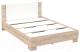 Полуторная кровать Империал Аврора 140 (дуб сонома/белый) -