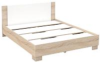 Двуспальная кровать Империал Аврора 160 (дуб сонома/белый) -
