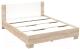 Двуспальная кровать Империал Аврора 160 с основанием (дуб сонома/белый) -