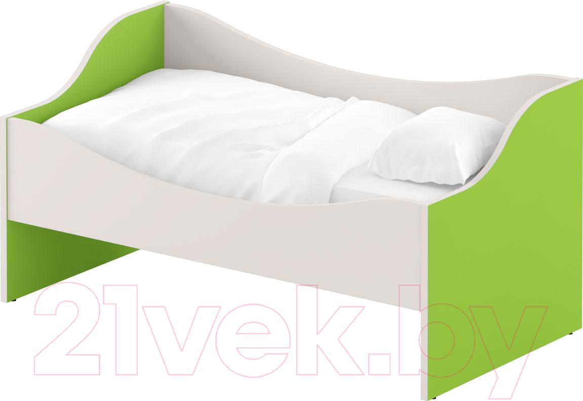 Купить Односпальная кровать Славянская столица, ДУ-КЛ12 (белый/зеленый), Беларусь