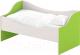 Кровать-тахта детская Славянская столица ДУ-КЛ12 (белый/зеленый) -