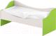 Кровать-тахта детская Славянская столица ДУ-КЛ14 (белый/зеленый) -
