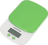 Кухонные весы StarWind SSK2155 (зеленый) -