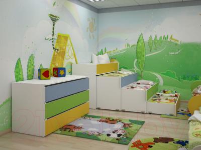 Стол для детского сада Славянская столица ДУ-СИ9 (белый/синий)