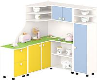 Комплект мебели для жилой комнаты Славянская столица ДУ-СИ15 (белый/зеленый/синий/желтый) -
