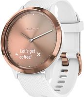 Умные часы Garmin Vivomove HR Sport / 010-01850-22 (розовое золото/белый) -