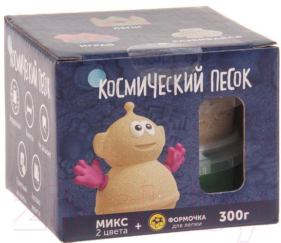 Купить Набор для лепки Космический песок, Микс зеленый KP015SG (0.3кг), Россия, пластик