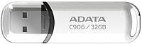 Usb flash накопитель A-data C906 32 Гб White (AC906-32G-RWH) -
