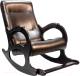 Кресло-качалка Calviano Бастион 2 с подножкой (dark brown) -