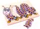 Развивающая игра Играй с умом Рамка-вкладыш Гусеница / 5015 -