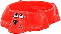 Песочница-бассейн PalPlay Собачка 373 (красный) -