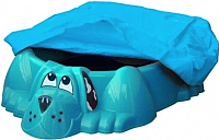Песочница-бассейн PalPlay Собачка 431 с покрытием (голубой) -
