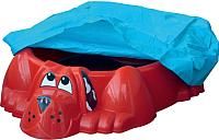 Песочница-бассейн PalPlay Собачка 431 с покрытием (красный) -