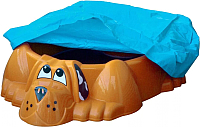 Песочница-бассейн PalPlay Собачка 431 с покрытием (оранжевый) -