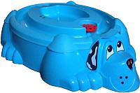Песочница-бассейн PalPlay Собачка 432 с крышкой (голубой/голубой) -