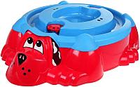 Песочница-бассейн PalPlay Собачка 432 с крышкой (красный/голубой) -