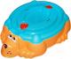 Песочница-бассейн PalPlay Собачка 432 с крышкой (оранжевый/голубой) -