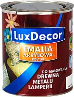 Эмаль LuxDecor Белый кристалл (750мл, глянец) -