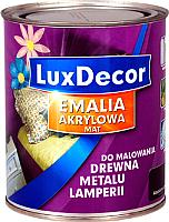 Эмаль LuxDecor Снежный белый (750мл, матовая) -