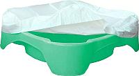 Песочница-бассейн PalPlay Квадратная 378 с покрытием (зеленый) -