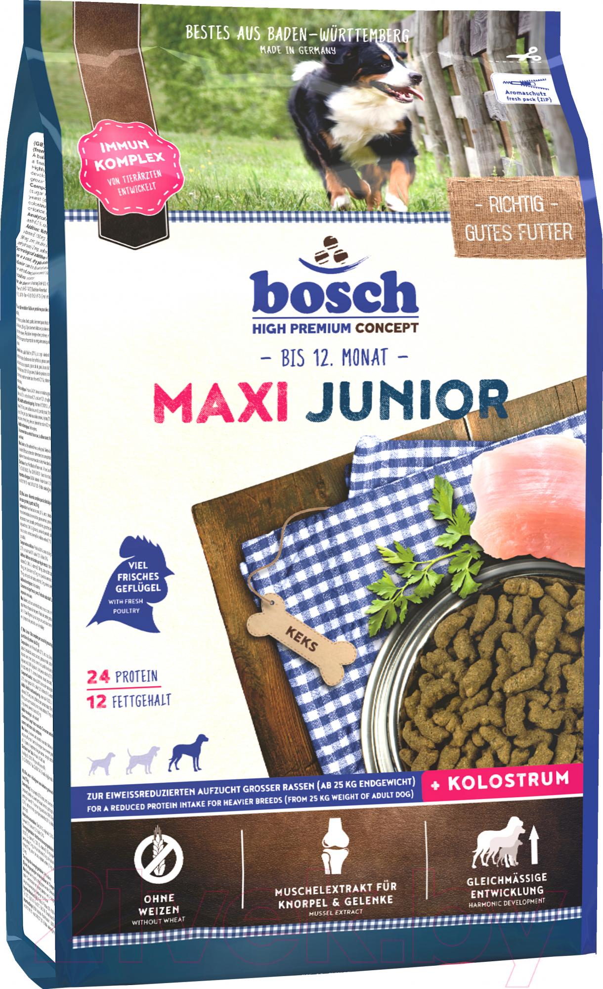 Купить Корм для собак Bosch Petfood, Maxi Junior (15кг), Германия