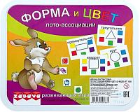 Развивающая игра Забава Лото-ассоциации. Форма и цвет / 14304 -