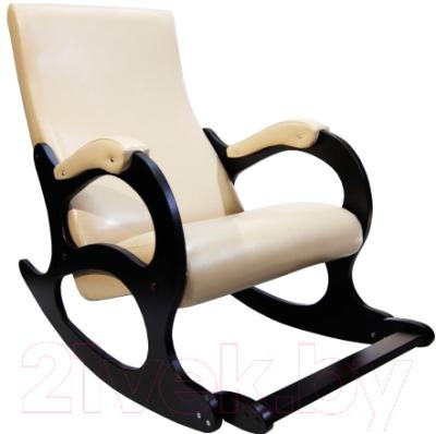 Кресло-качалка Calviano Бастион 4-2 с подножкой (экокожа/селена крем)