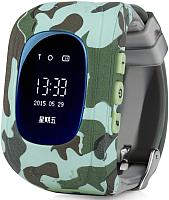Умные часы детские Wonlex Q50 (голубой камуфляж) -