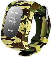 Умные часы детские Wonlex Q50 (желтый камуфляж) -