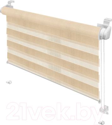 Рулонная штора Gardinia М.Зебра Z721 (61.5x150, бежевый)
