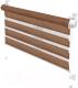 Рулонная штора Gardinia М.Зебра Z752 (57x150, натуральный/коричневый) -