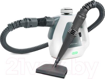 Пароочиститель Kitfort KT-918-2 (белый/серый)