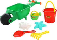 Тележка с игрушками для песочницы Полесье Набор №337 / 35691 -