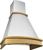Вытяжка купольная Elikor AC6634W1 (60, белый/дуб неокрашенный) -