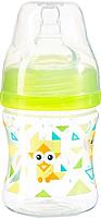 Бутылочка для кормления BabyOno Антиколиковая с широким горлышком / 402 (120мл, зеленый) -