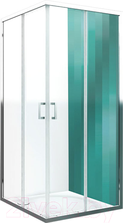 Душевой уголок Roltechnik, Lega Line LLS2/120x80 (хром/прозрачное стекло), Чехия  - купить со скидкой