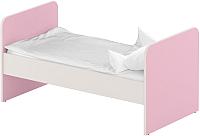 Односпальная кровать Славянская столица ДУ-КО14 (белый/розовый) -