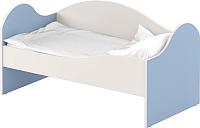 Кровать-тахта детская Славянская столица ДУ-КО12-2 (белый/синий) -