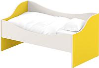 Кровать-тахта Славянская столица ДУ-КЛ12 (белый/желтый) -