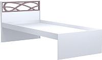 Односпальная кровать Заречье Саманта СМ3 90x200 (дуб седан/кремовый) -
