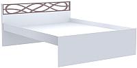 Каркас кровати Заречье Саманта СМ3б 120x200 (дуб седан/кремовый) -