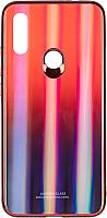 Чехол-накладка Case Aurora для Redmi 7 (красный/синий) -