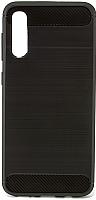 Чехол-накладка Case Brushed Line для Galaxy A50 (черный, матовый) -