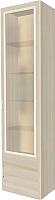 Шкаф с витриной Заречье Ника Н23 (белый/дуб сонома) -
