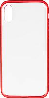 Чехол-накладка Case Colored Frame для iPhone X (красный, матовый) -