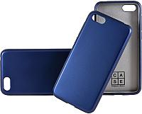 Чехол-накладка Case Deep Matte v.2 для Y5 Prime 2018 / Honor 7A (синий, матовый) -
