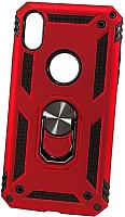 Чехол-накладка Case Defender для iPhone XR (красный, матовый) -