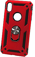 Чехол-накладка Case Defender для iPhone XS Max (красный, матовый) -